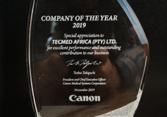 Tecmed Africa Wins Canon Medical's Company of the Year 2019